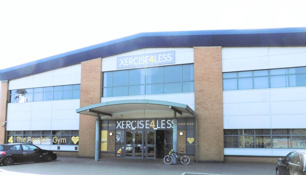 An image showing the outside of Xercises4Less Sunderland where our clinic is based