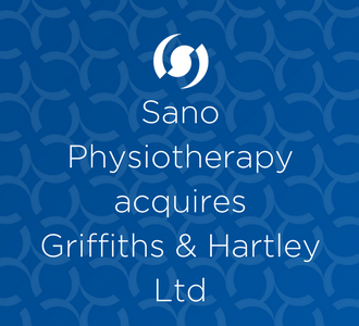 An image showing the blog header Sano Physiotherapy acquires Griffiths & Hartley