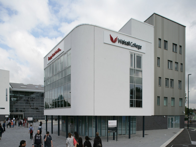 An image showing the exterior of Walsall College where Sano Physiotherapy Walsall is located.